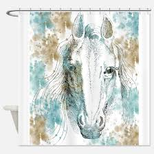 Horse Kitchen Curtains Horse Shower Curtains Cafepress