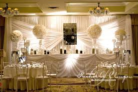wedding event backdrop ivory table a clingen wedding event design