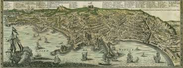 Napoli Map by Map Of Napoli 1734 Homann U0027s Heirs