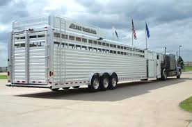 Show Steer Barns New 4 Star 26 U0027 V Nose Stock Trailer Cattle Livestock Aluminum