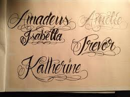 tattoo lettering italic tattoo love