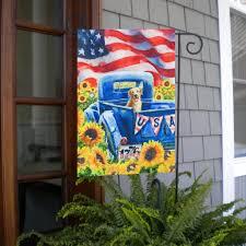 Patriotic Garden Decor Summer Yard Flags Add To Your Outdoor Garden U0026 Yard Decor