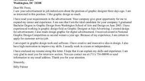 sample graphics designer cover letter graphic design cover letter