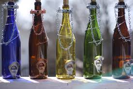 home decor gifts for mom glass wine bottle bird feeder bird houses gift for mom