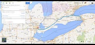 Niagra Falls Map Cycling Trails Along Niagara Parkway River In Niagara Falls