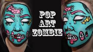 pin up halloween makeup halloween pop art pin up zombie makeup tutorial shlemonade