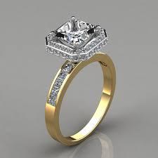 princess cut halo engagement ring halo style princess cut channel set engagement ring puregemsjewels