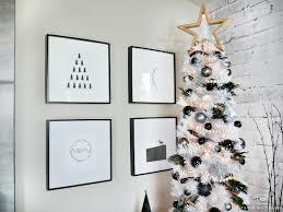 modern black and white christmas tree taryn whiteaker