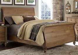 Pine Sleigh Bed Frame Pines Sleigh Bed In Vintage Light Pine Finish By Liberty Furniture