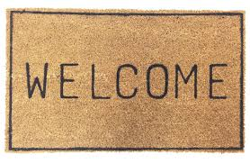 vinyl back doormat welcome home icon coir doormat coco mats