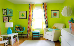 lime green living room design with fresh colors home decoration
