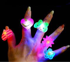 led light up toys wholesale light up toys cartoon led flashing emoji rings emoticon flower jelly