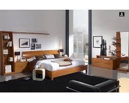 modern bedrooms sets modern bedroom set in light cherry finish made in spain 33b201