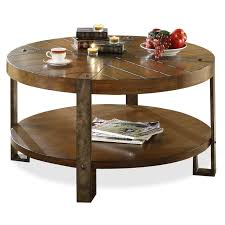 round wood and metal end table riverside sierra round cocktail table hayneedle