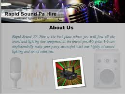 advanced lighting and sound disco equipment hire
