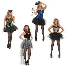 tutu army cop leopard corset ladies fancy dress