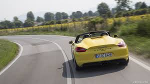 porsche spyder yellow 2016 porsche boxster spyder color racing yellow rear hd