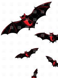 flying bat halloween card vector image 6783 u2013 rfclipart
