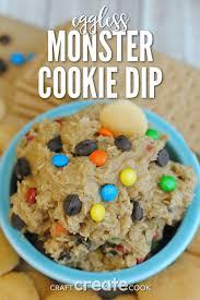 craft create cook eggless monster cookie dip recipe craft