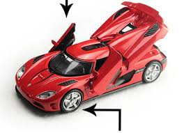 Koenigsegg Sports Diecast Model 1 32 Car Toy Red Acousto Optic