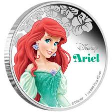 disney princess u2013 ariel 2015 1oz silver proof coin perth mint
