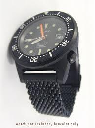 black mesh bracelet images Squale 20mm deluxe black pvd mesh bracelet 1521 mesh pvd jpg
