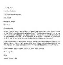sample award nomination letter letter of recommendation