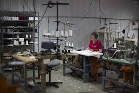 Sue Hanback sews garments at the cotton clothing manufacturer Alabama Chanin in Florence  Alabama October