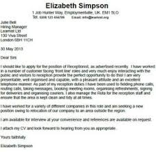 receptionist cover letter example learnist org