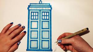 doctor who tardis drawing pixel art youtube