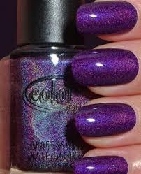 stunning purple nail design with golden strips neon flourish nail