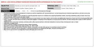 Land Surveyor Resume Sample by Land Development Manager Resume Sample