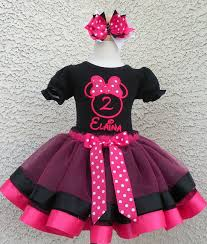 girls minnie mouse fuchsia satin ribbon lace quick ship tutu