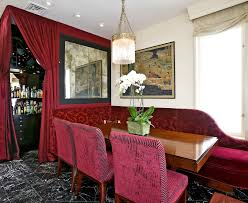 26 spaces with deep red accents inspiration dering hall