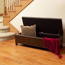 Long Ottoman Furniture Storage Bench Tufted Long Ottoman With Storage