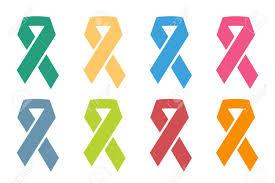 stop cancer ribbon logo icon concept cancer ribbon