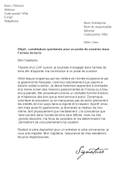 lettre de motivation aide cuisine lettre de motivation armée de terre modèle de lettre