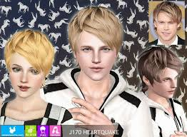 sims 3 hair custom content my sims 3 blog newsea heartquake hair for males females sims