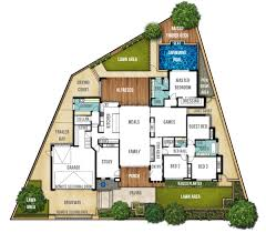Single Storey Floor Plans by Exceptional Single Story Floor Plans With Open Floor Plan 9