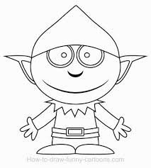 majestic elf outline picture clip art template printable christmas