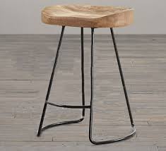Industrial Metal Bar Stool The Metal Bar Stools With Wood Seat Flamen Kitchen With Regard To