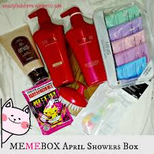 unboxing memebox april showers box unboxing beauty bath salt works wonders to your skin take your newest grab bag with you everywhere you go whether you are jet set or hitting the gym we ve got you
