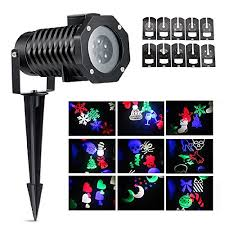 auledio 12 volts christmas lights projector kit black