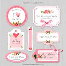 mothers day stickers vintage s day stickers vector premium