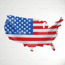 Map United State Of America by Usa Flag In Form Of Map United States Of America National Flag