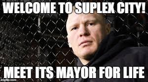 Brock Lesnar Meme - brock lesnar s suplex city remark gets the rack city remix