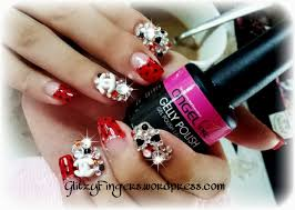 christmas glitzy fingers