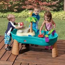 step 2 water table with umbrella splish splash seas water table kids sand water play step2