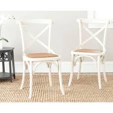 Safavieh Bistro Chairs Safavieh Franklin Ivory Oak U0026 Rattan X Back Dining Chair Set Of 2