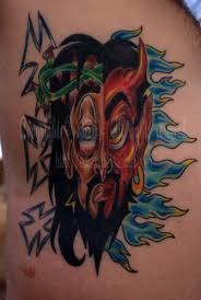 good vs evil tattoo by edizzi on deviantart